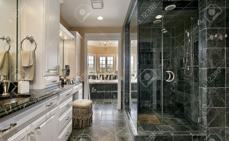 full hd luxury master bathroom shower for mansions laptop pics photo bath in home with black glass shower stock