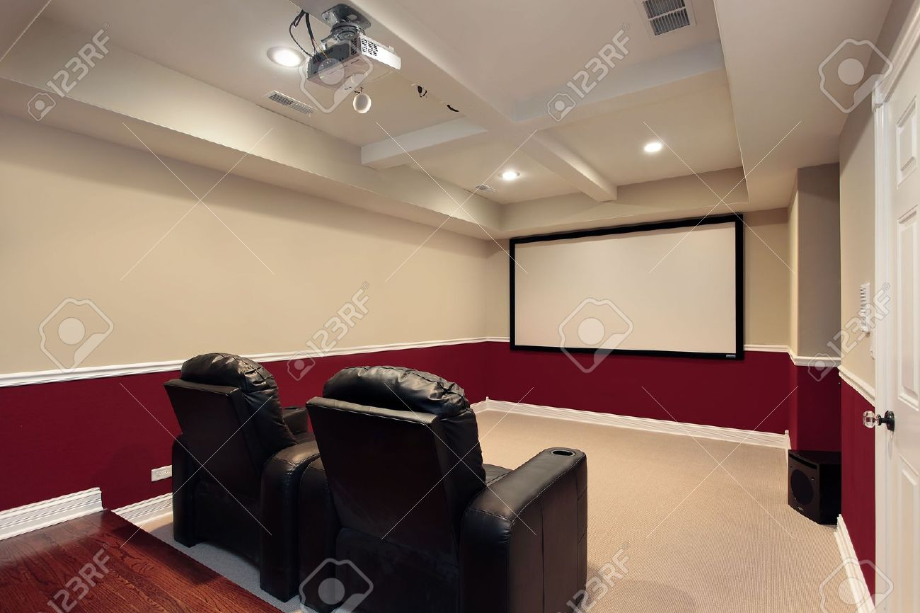 Media Room Chairs Media Room In Luxury Home With Home Theater Chairs
