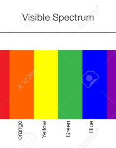 Chart of visible spectrum color illustration about human vision and light stock vector also rh rf