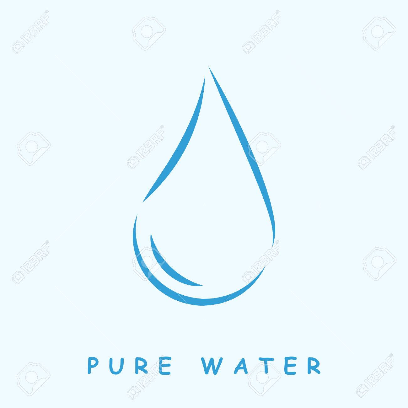 pure water logo 2d