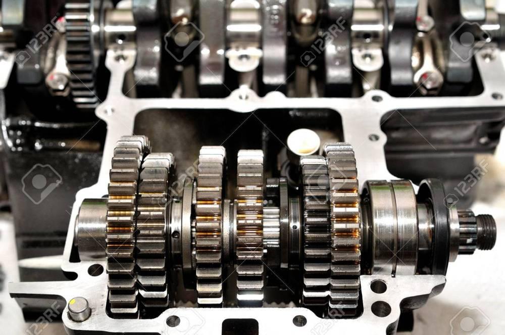 medium resolution of motorcycle gear box with crankshaft behind stock photo 49263822