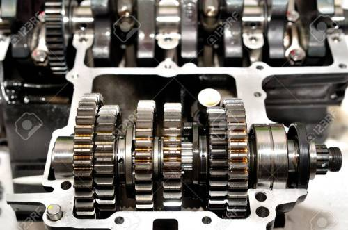 small resolution of motorcycle gear box with crankshaft behind stock photo 49263822