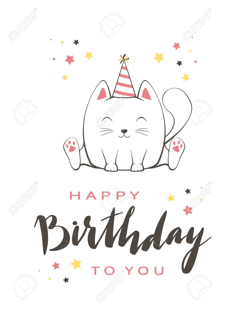 Happy Birthday Cartoon Images : happy, birthday, cartoon, images, Lettering, Happy, Birthday, Greeting, Cartoon, Style., Vector.., Royalty, Cliparts,, Vectors,, Stock, Illustration., Image, 127740915.