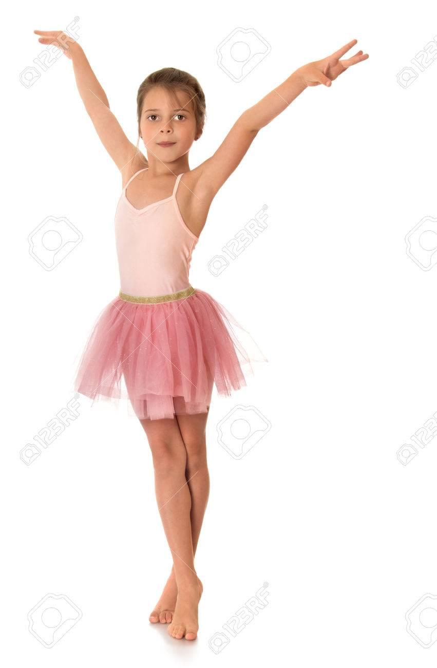 slender ballerina girl in