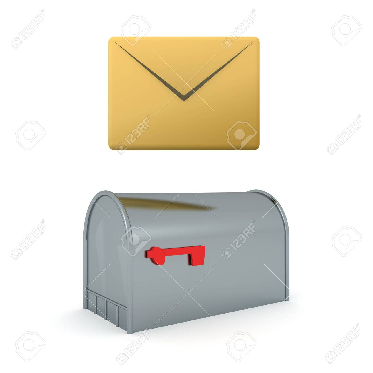 3d rendering of envelope