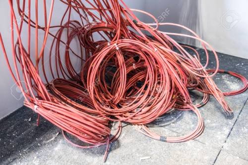 small resolution of fire alarm cable chaos stock photo 72439041