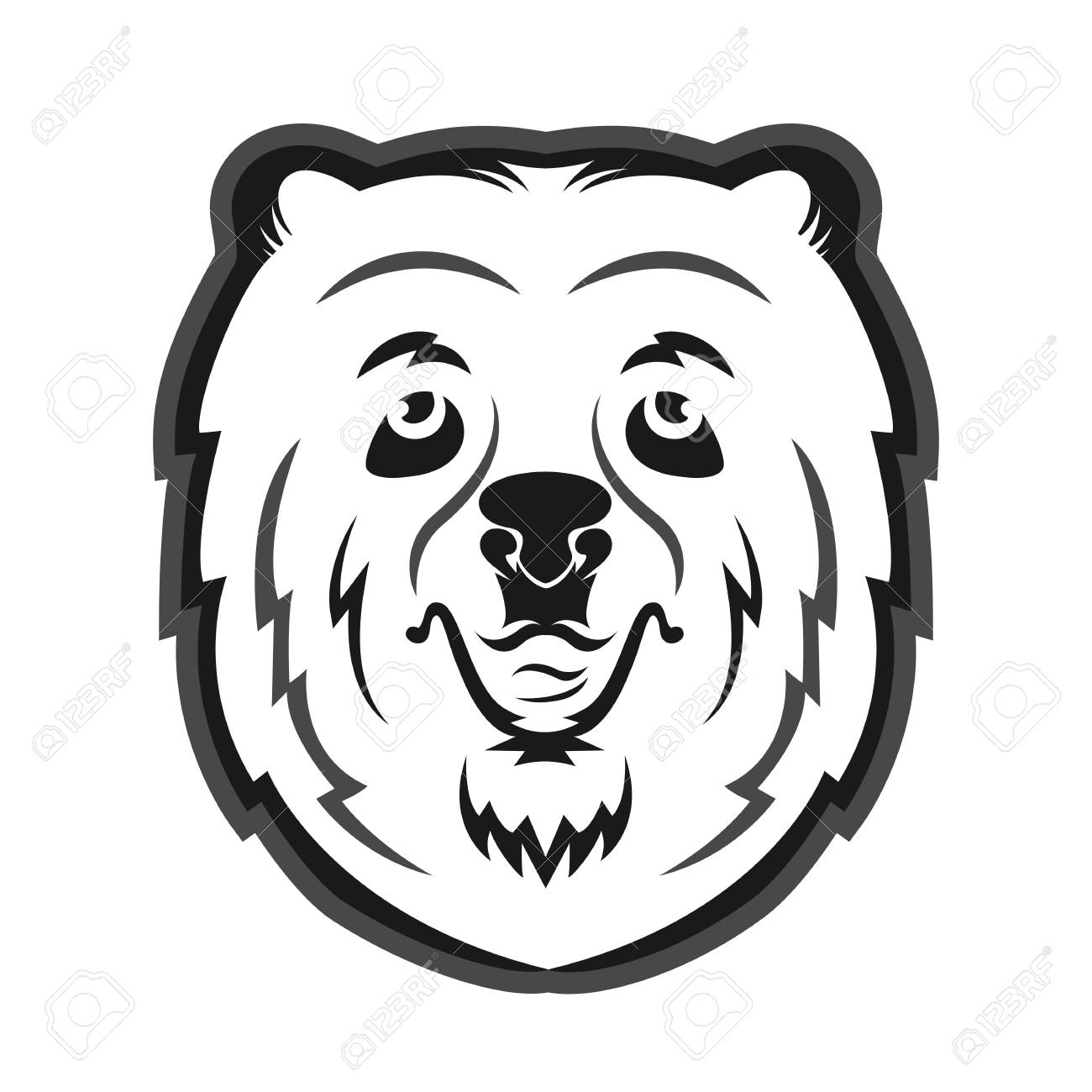 hight resolution of bear mascot for the sports team print on t shirt stock vector 82112812