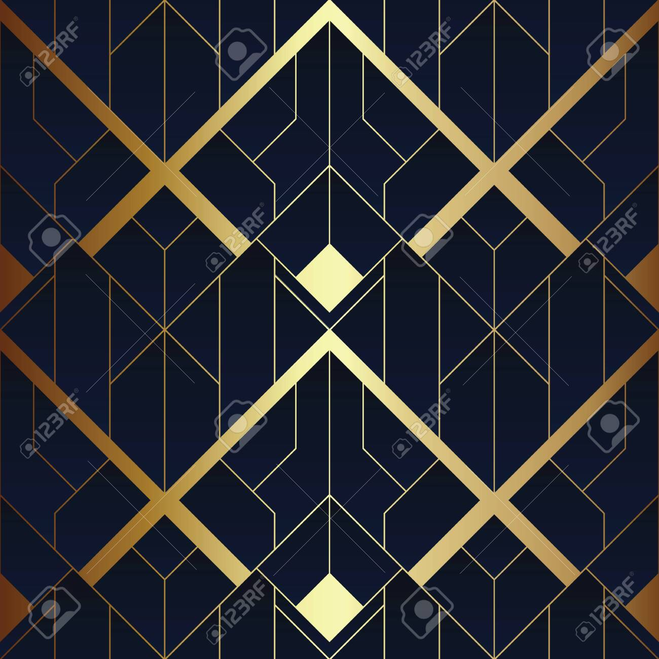 vector modern geometric tiles pattern luxury dark blue with