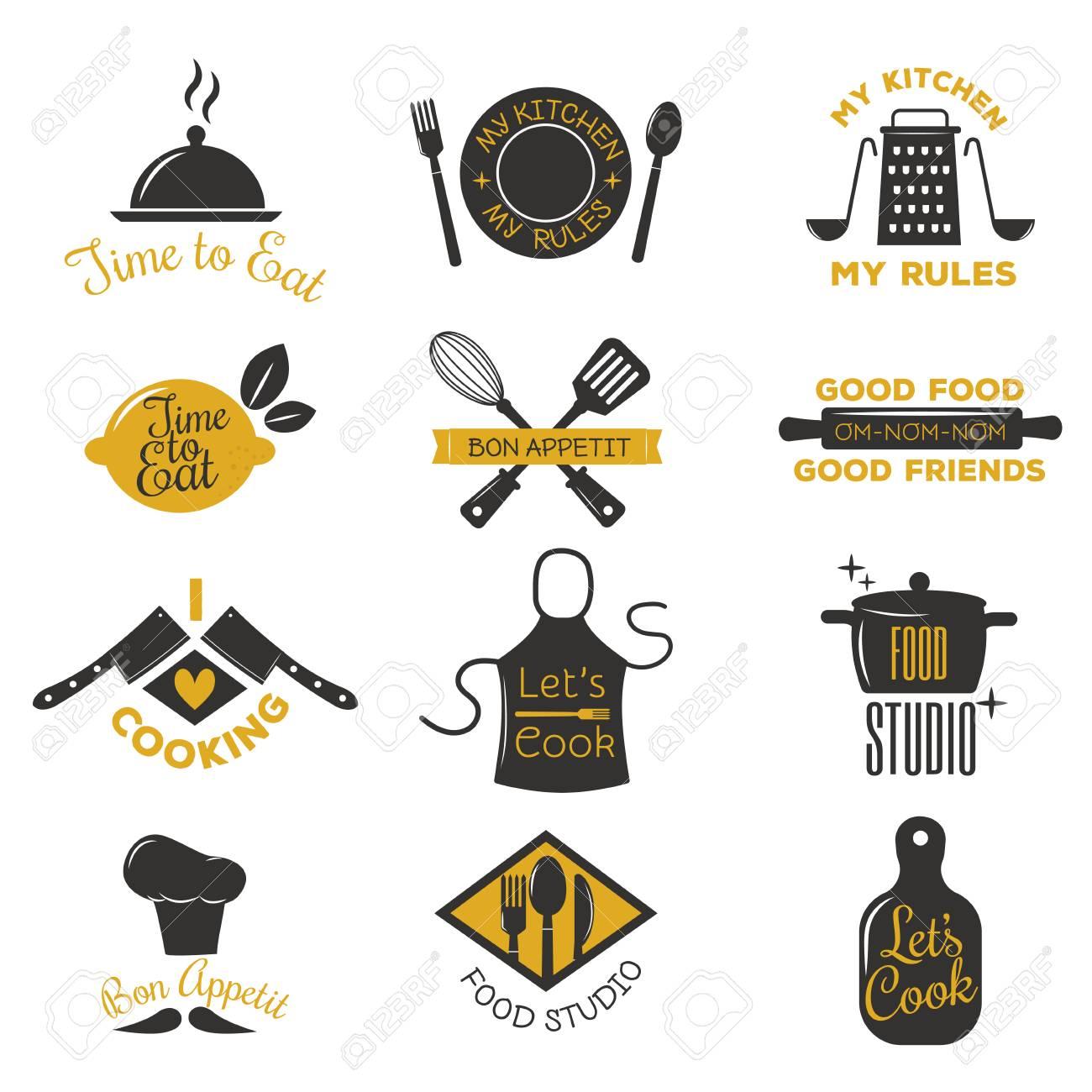 Bakery Shop Logos Badges And Labels Design Elements Set Bread