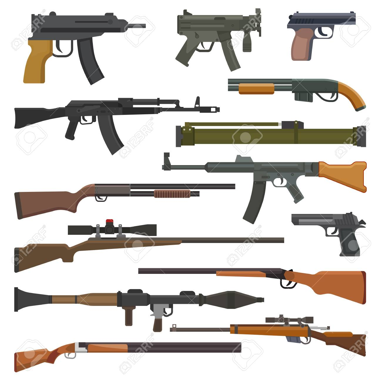 gun vector military weapon