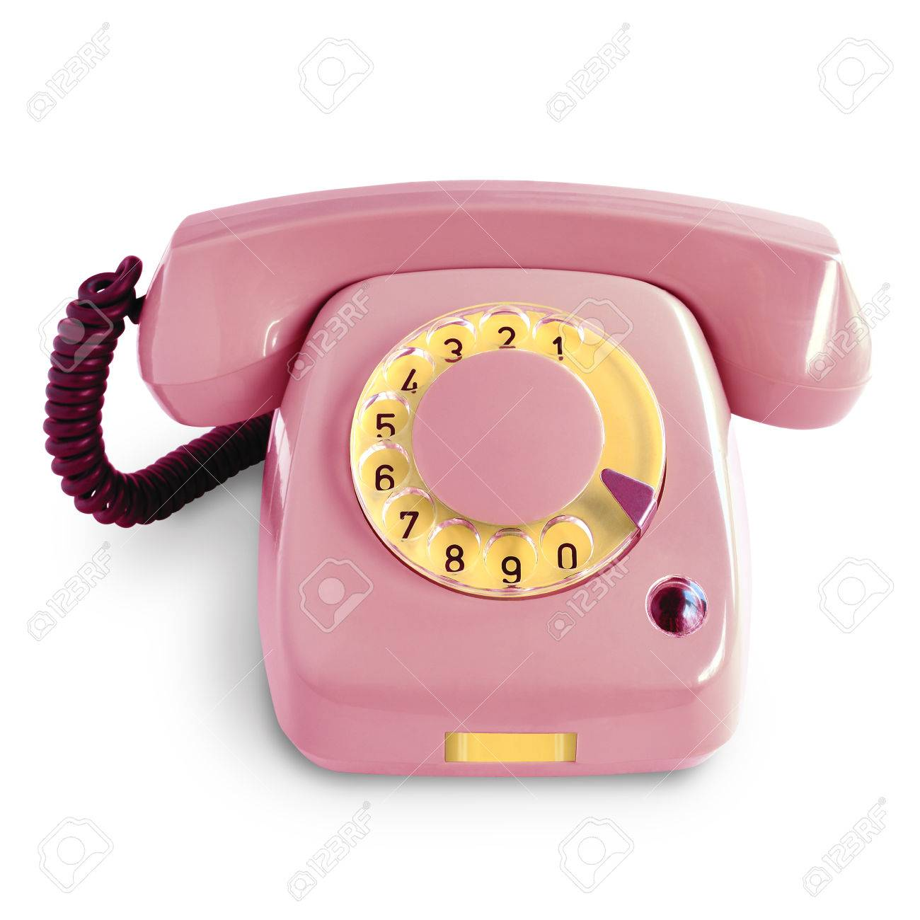 hight resolution of stock photo vintage pink telephone with rotary dial isolated on white background
