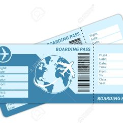 blank plane tickets for business trip travel or vacation journey isolated vector illustration illustration [ 1300 x 975 Pixel ]