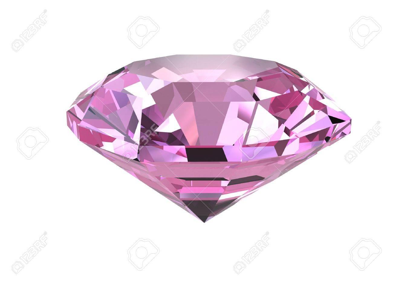 diamante rosa aisladas sobre
