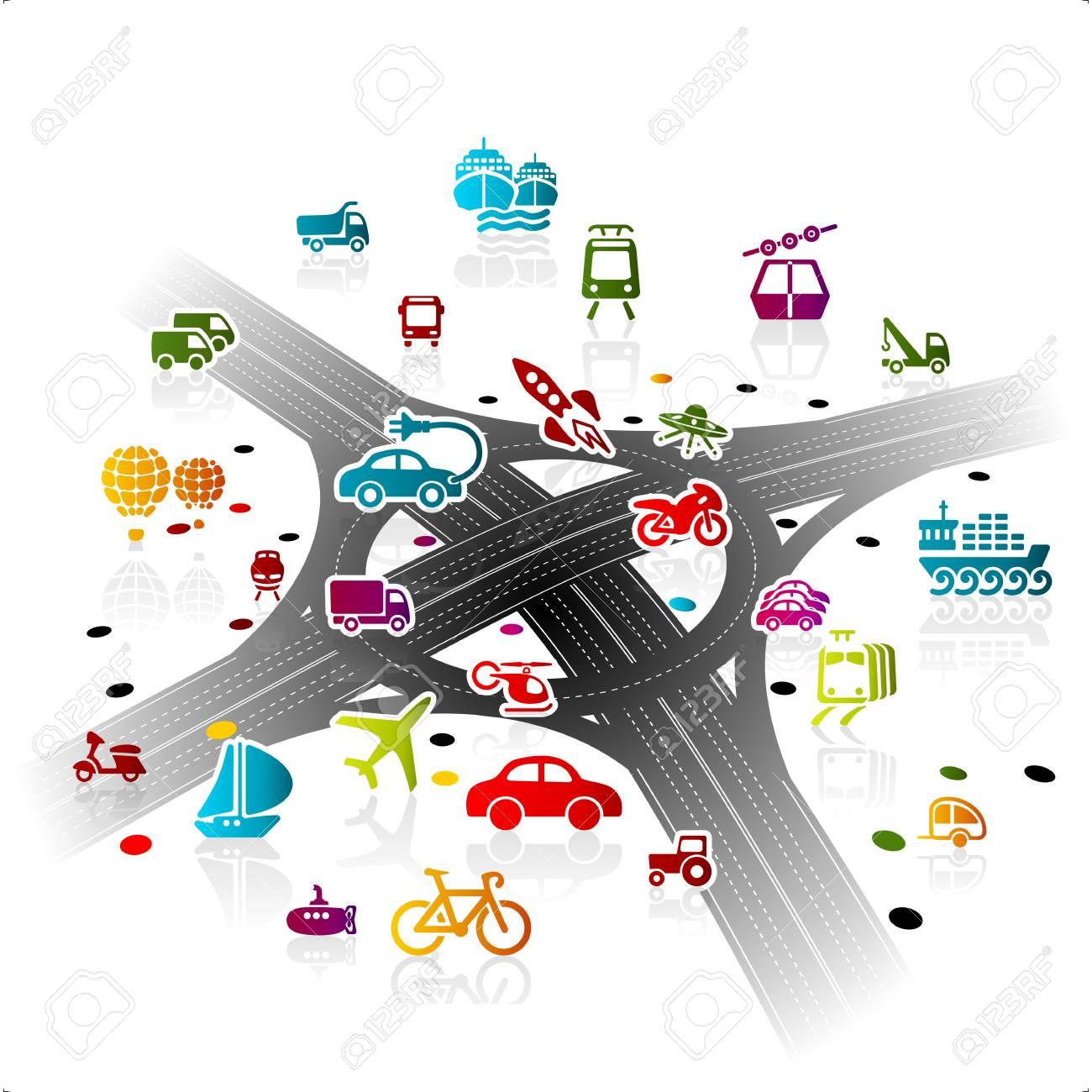 transport infrastructure concept illustration