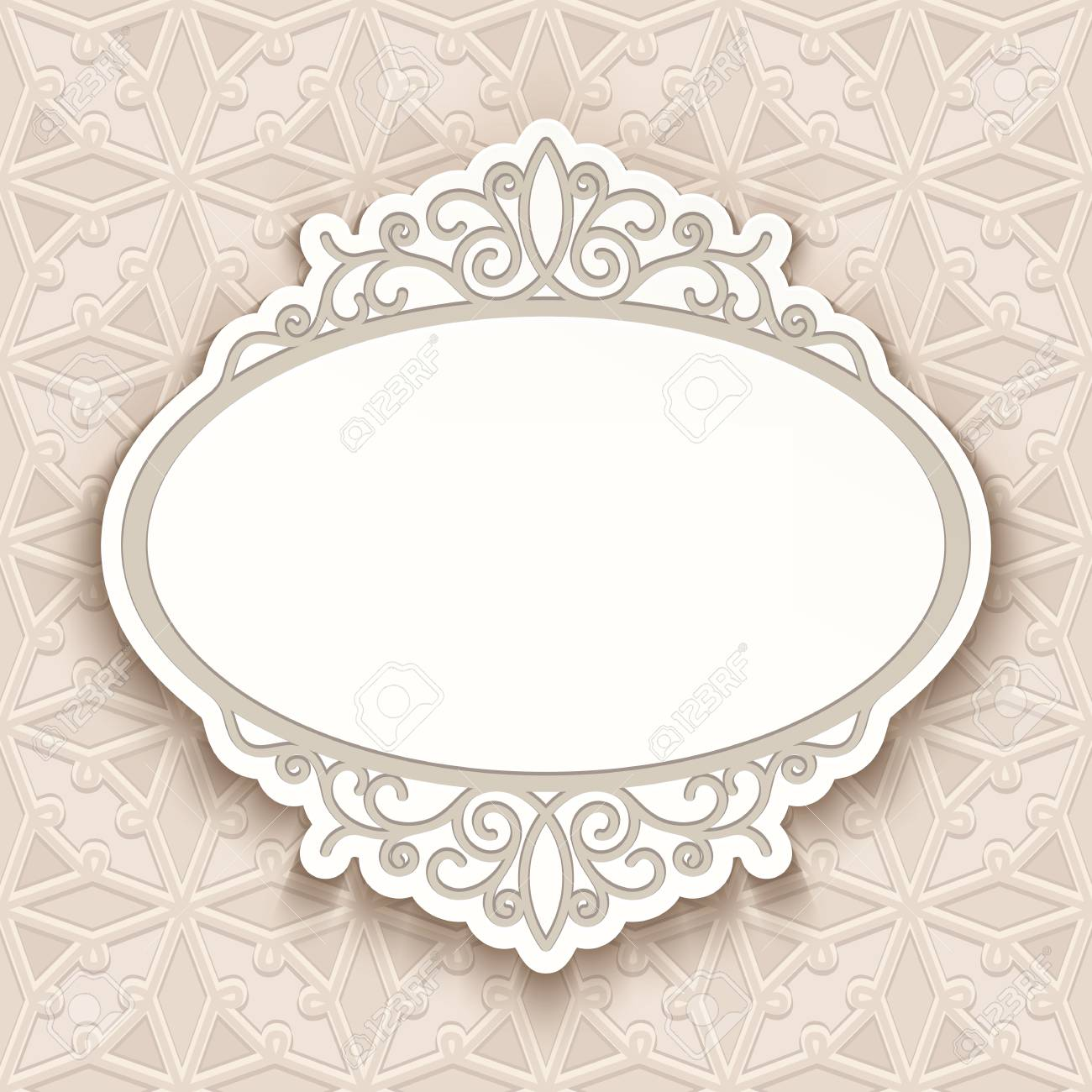cutout paper frame with