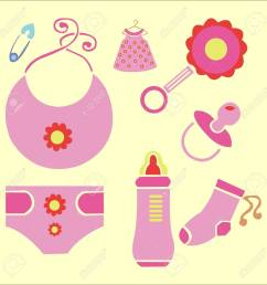 baby shower vector digital clipart 3 stock vector 27509988 [ 1300 x 1300 Pixel ]