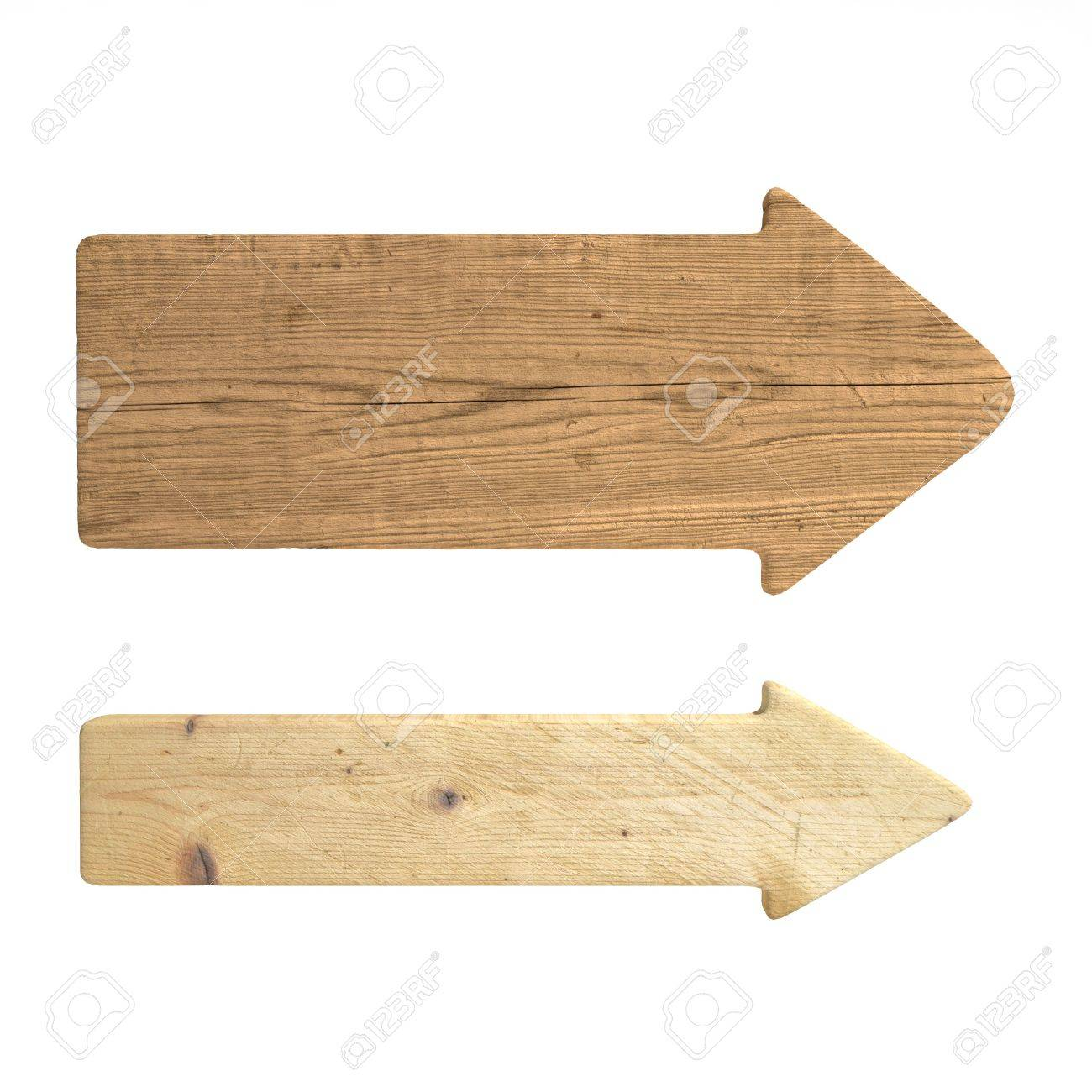 old wood directional signs