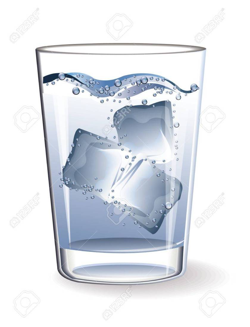 Image result for CLIPART GLASS OF ICE WATER