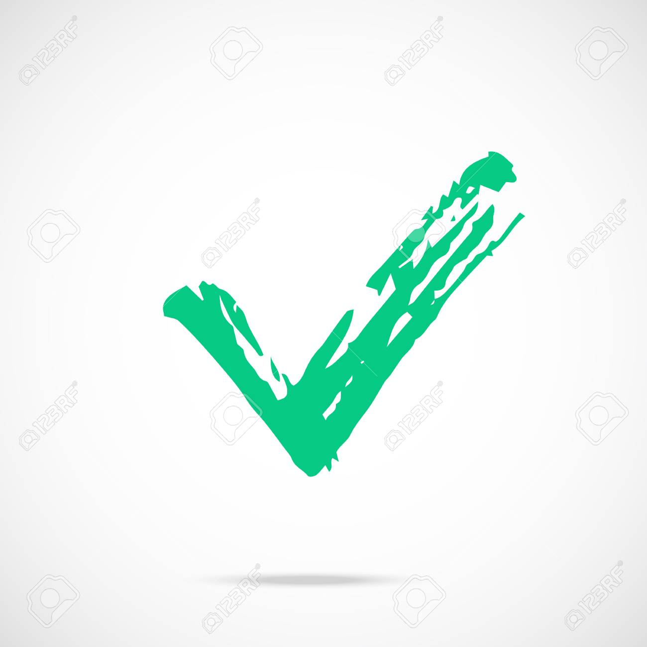 hight resolution of brush stroke green check mark icon painted tick symbol vector icon stock vector