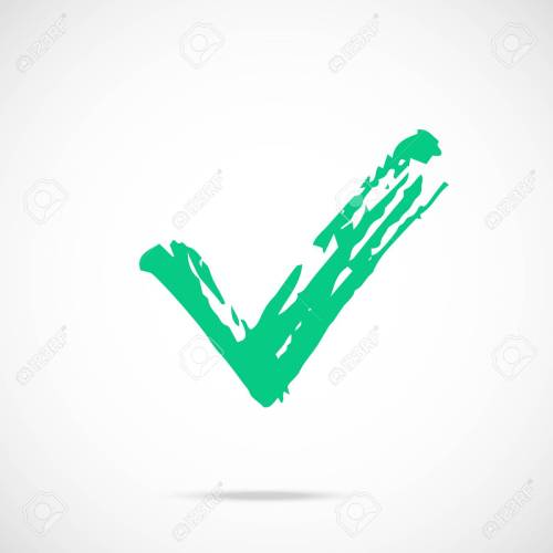 small resolution of brush stroke green check mark icon painted tick symbol vector icon stock vector