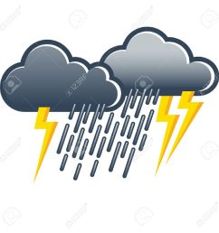 dark gray thunderclouds with heavy rain and lightning weather icon weather forecast stock vector [ 1300 x 1300 Pixel ]