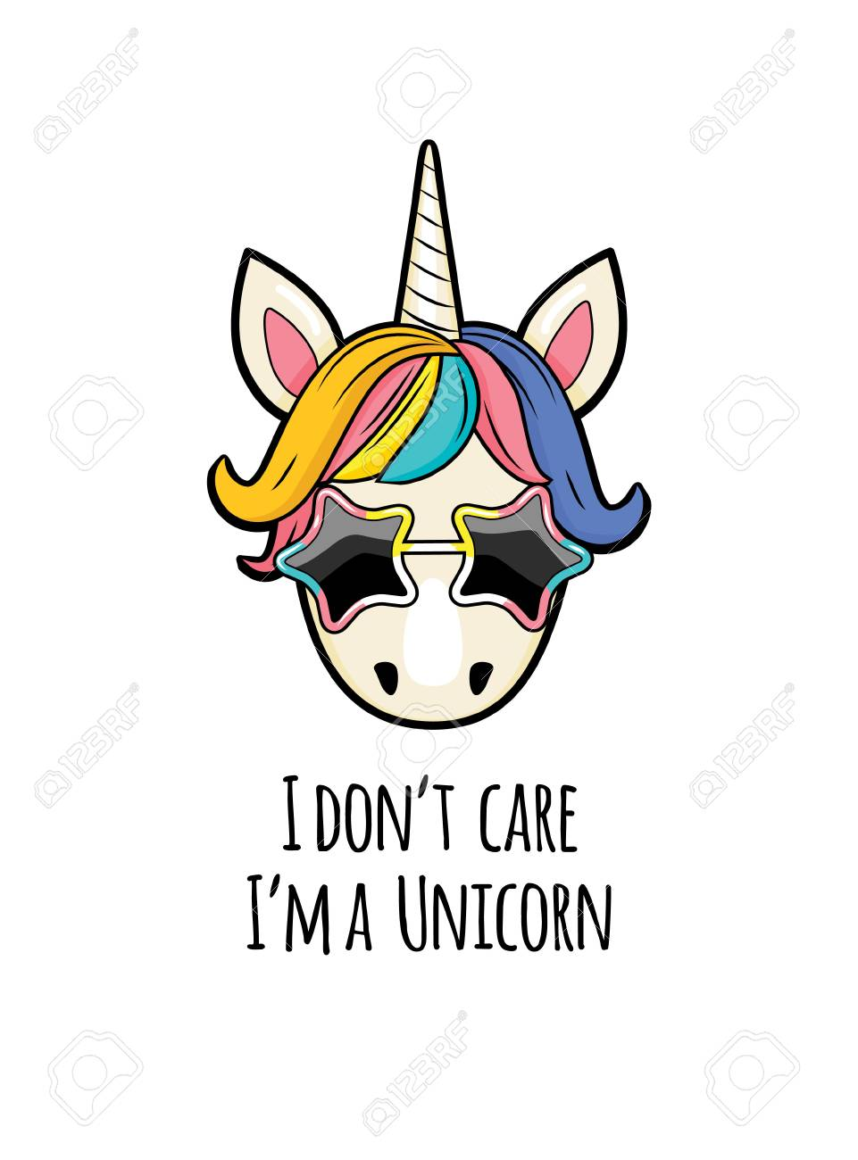 Unicorn Girl Pictures : unicorn, pictures, Unicorn, Quotes., Portrait, Funny, With.., Royalty, Cliparts,, Vectors,, Stock, Illustration., Image, 124682717.