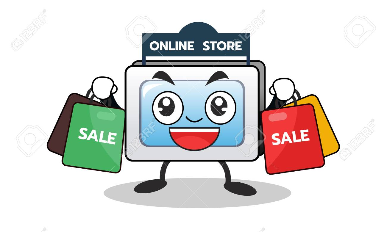 cartoon computer mascot of