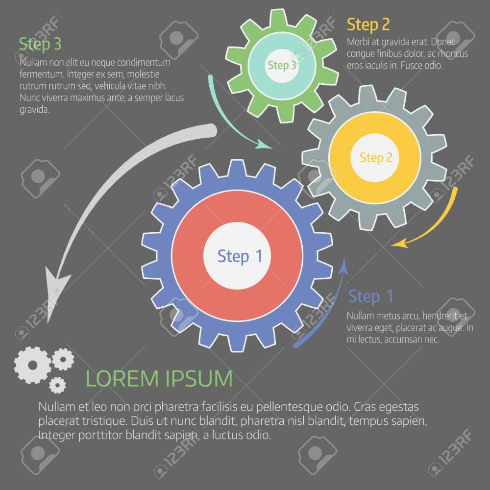 medium resolution of chart diagram graph with gears cover vector template stock