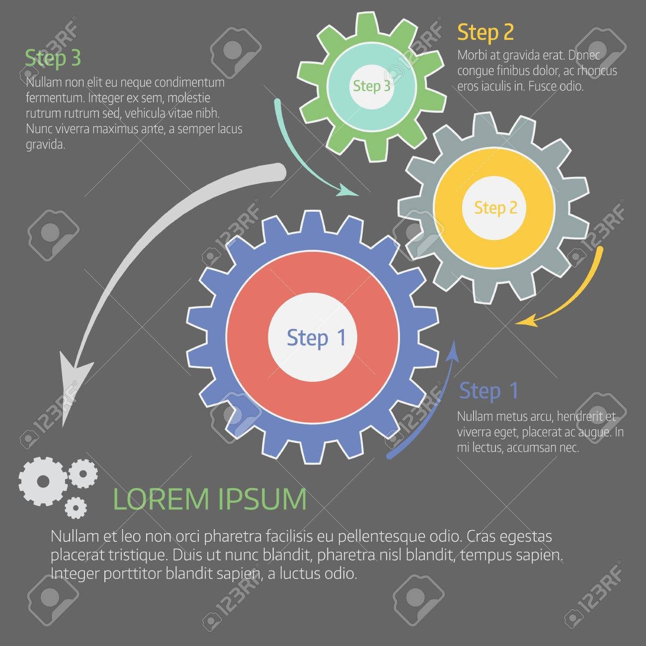 hight resolution of chart diagram graph with gears cover vector template stock