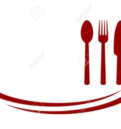 background for restaurant with red fork knife and spoon illustration [ 1300 x 1004 Pixel ]
