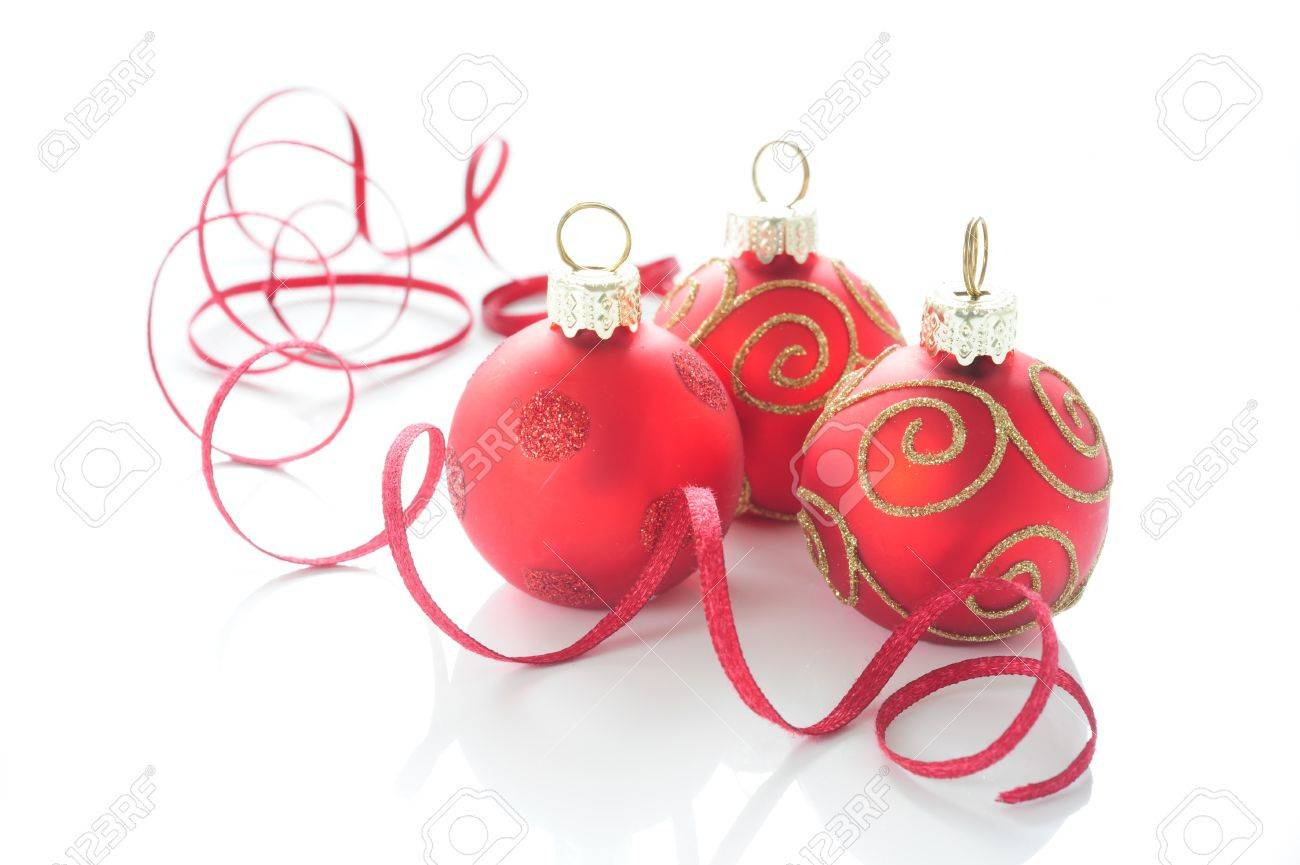 Gold Christmas Ball Ornaments