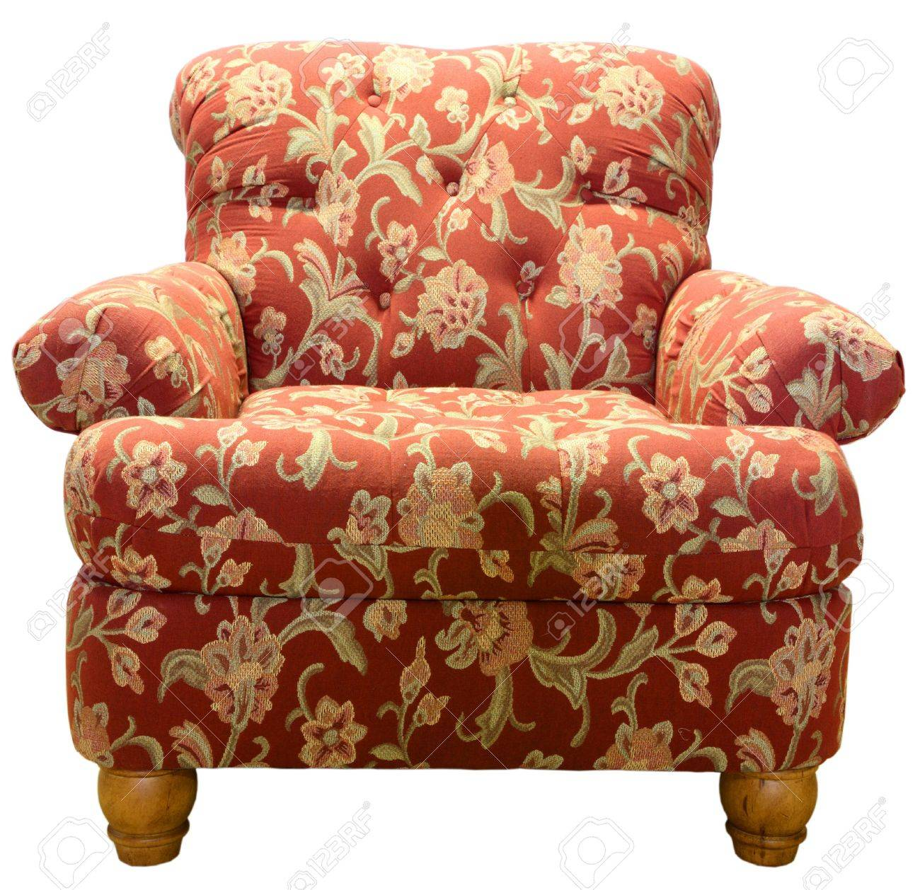 Paisley Chair Country Style Club Chair In A Red Paisley Fabric Pattern