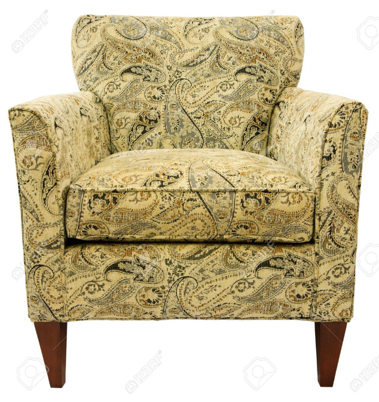 Paisley Chair Contemporary Accent Chair In Paisley Fabric Pattern