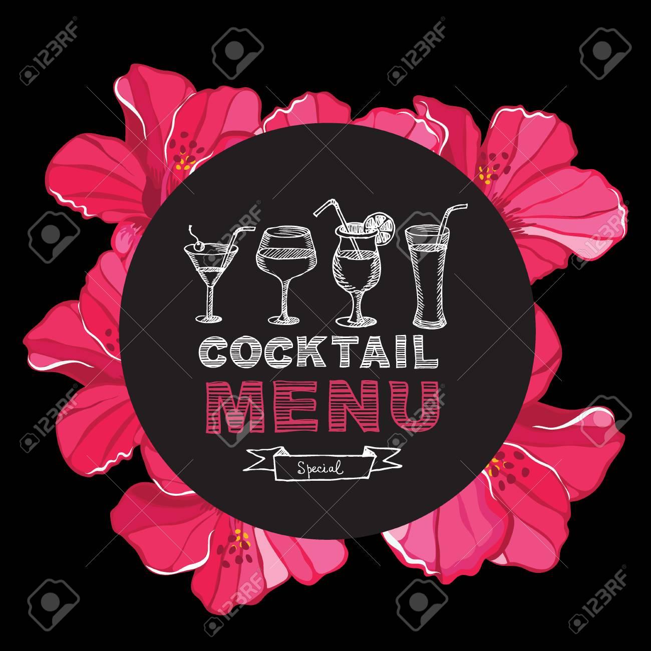 Cocktail Bar Menu, Template Design. Royalty Free Cliparts, Vectors ...