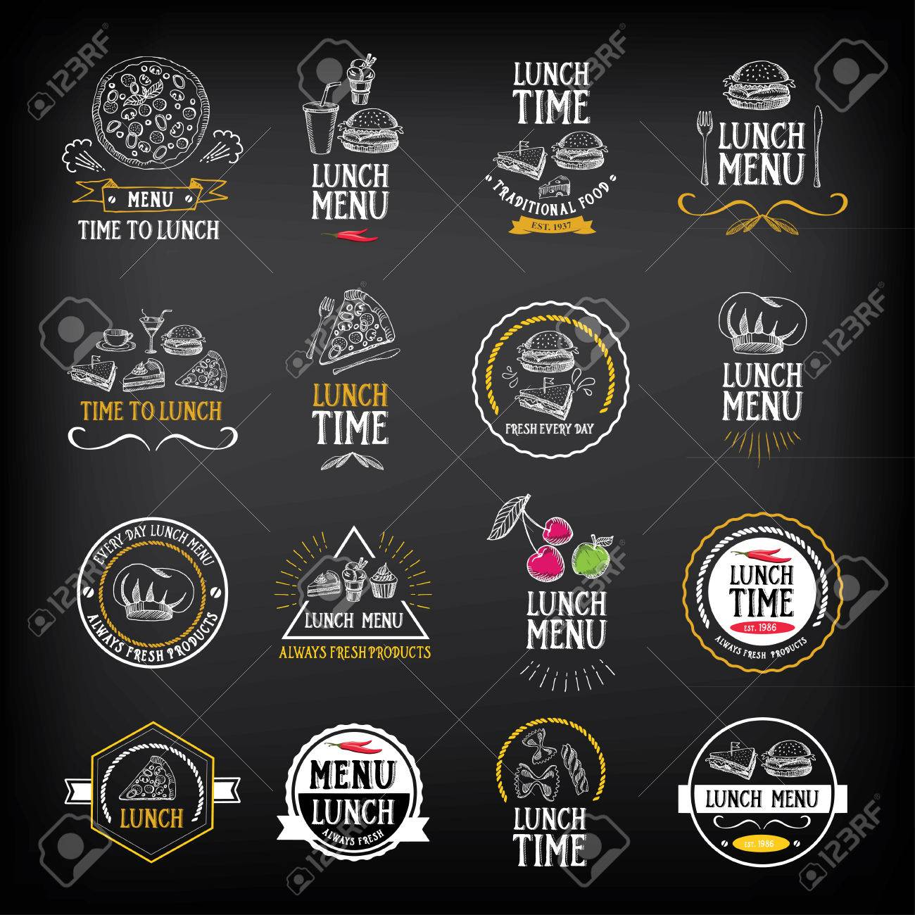 lunch menu logo and