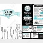 Seafood Restaurant Brochure Menu Design Royalty Free Cliparts Vectors And Stock Illustration Image 52132577