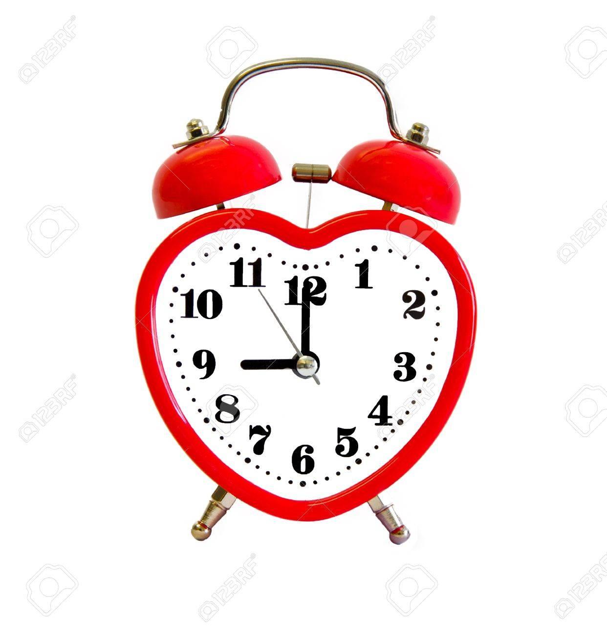 alarm clock with heart