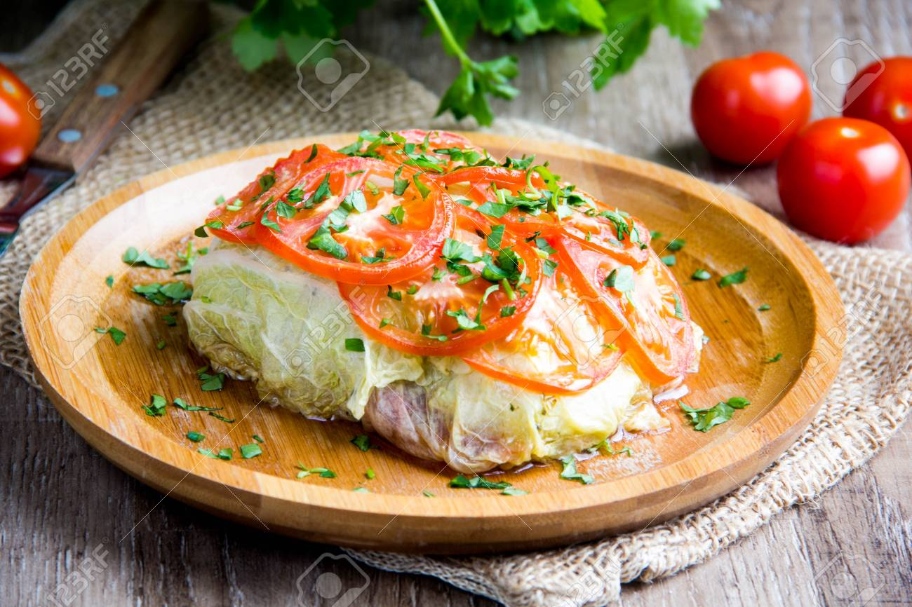 cabbage rolls stuffed with
