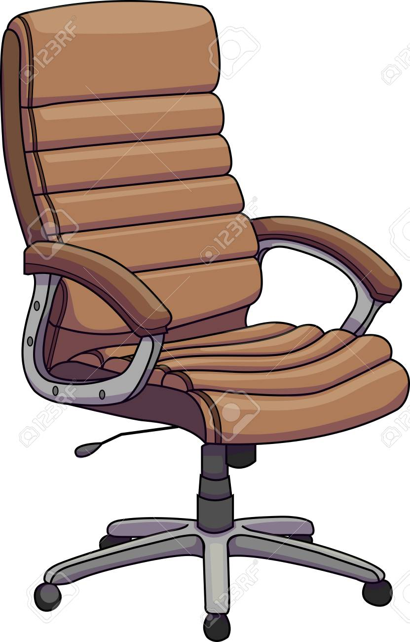 office chair illustration balance cushion for vector of a brown leather swivel revolving