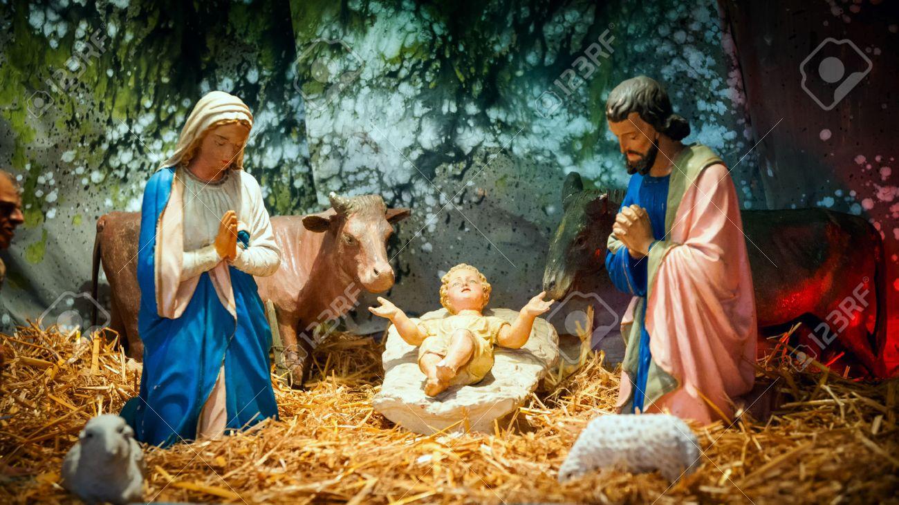 christmas nativity scene with