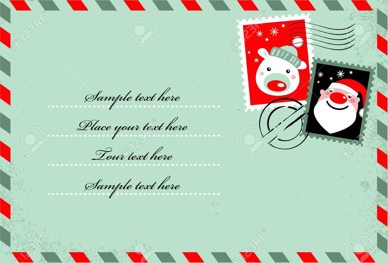 christmas envelope with cute