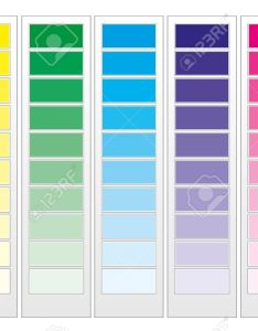 Color guide chart cmyk rainbow background stock vector also royalty free cliparts rh rf
