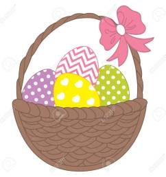 vector vector wicker basket with colorful easter eggs vector easter eggs easter clipart easter eggs vector illustration  [ 1300 x 1300 Pixel ]