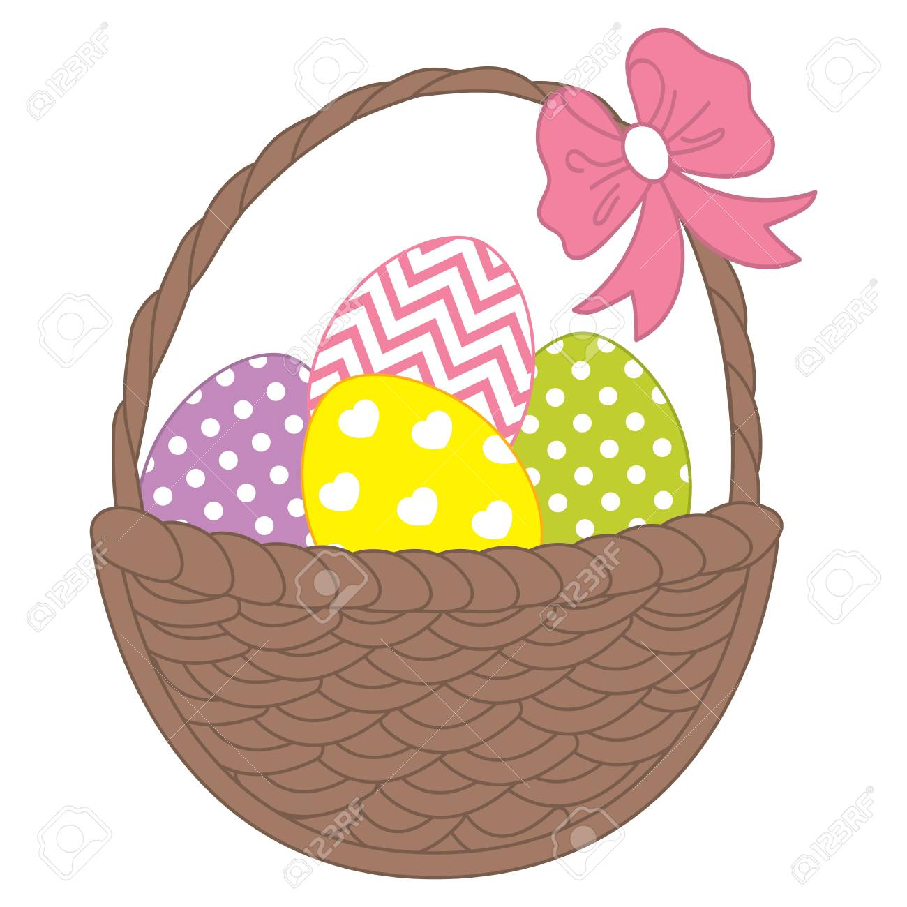 hight resolution of vector vector wicker basket with colorful easter eggs vector easter eggs easter clipart easter eggs vector illustration