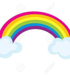 vector colorful rainbow with clouds rainbow clipart rainbow vector illustration stock vector  [ 1300 x 928 Pixel ]