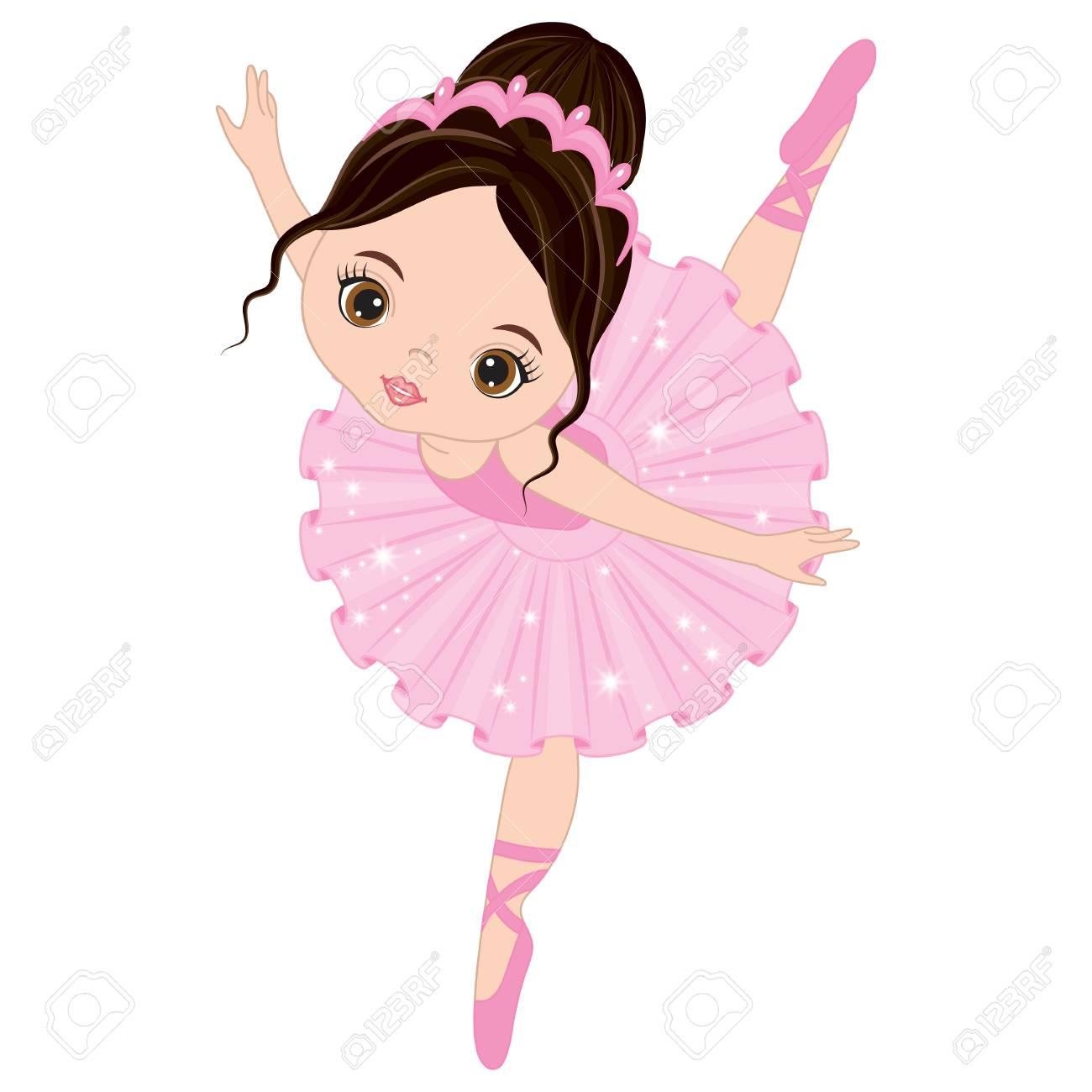 vector cute little ballerina