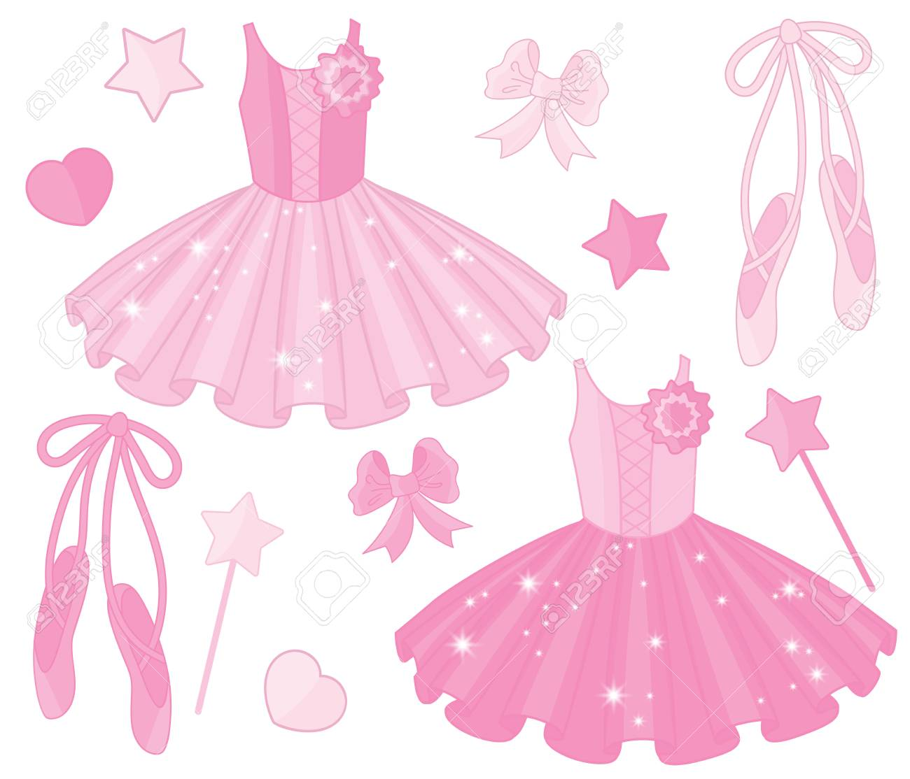 vector set with ballet
