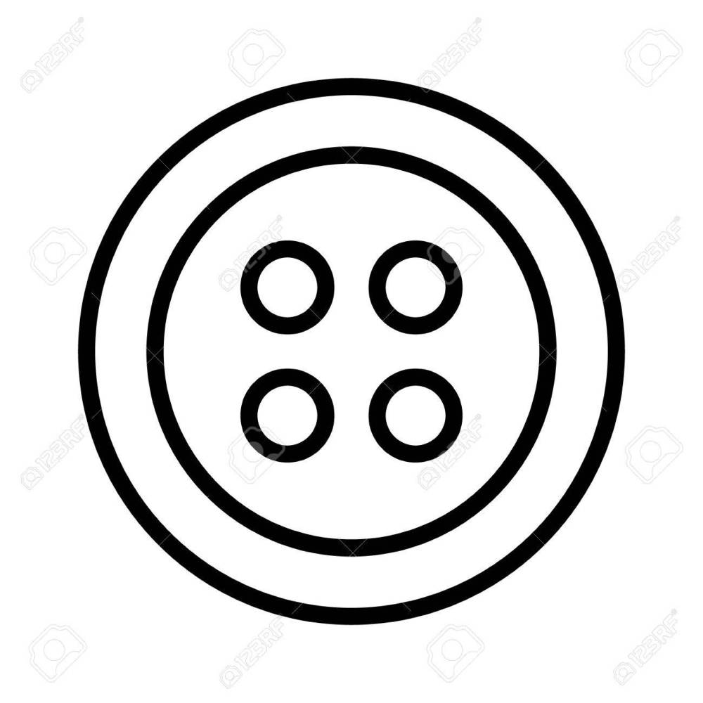 medium resolution of clothing for fashion fastener button line art icon for apps and websites stock vector 58945120