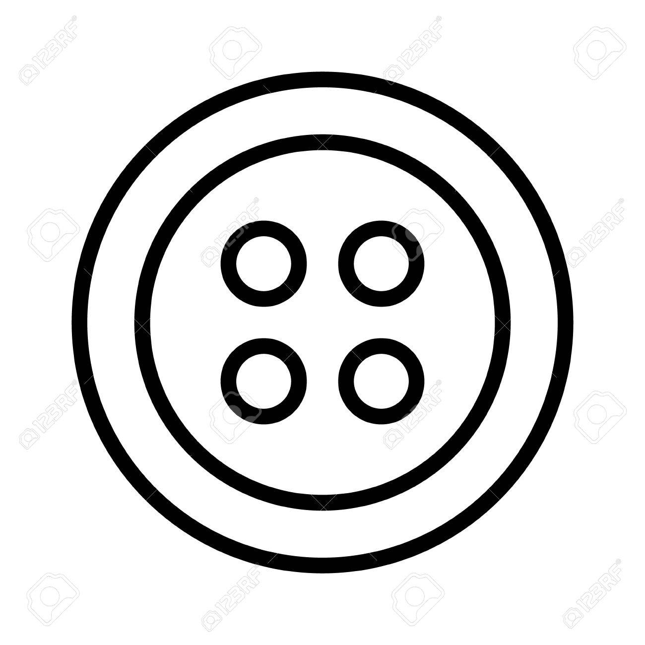 hight resolution of clothing for fashion fastener button line art icon for apps and websites stock vector 58945120
