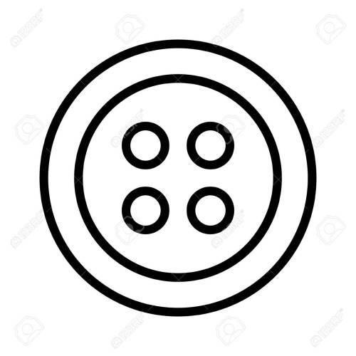 small resolution of clothing for fashion fastener button line art icon for apps and websites stock vector 58945120